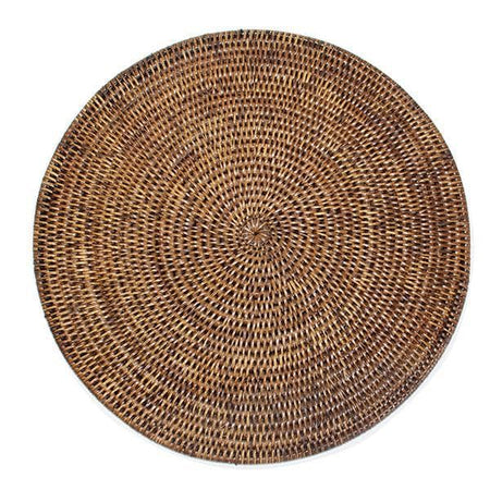 "Round Rattan Placemats 15"" (Set/2)"