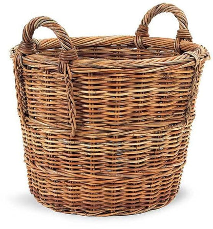 French Country Rattan Log Basket