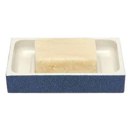 Manchester Faux Shagreen Soap Dish (Navy Blue)