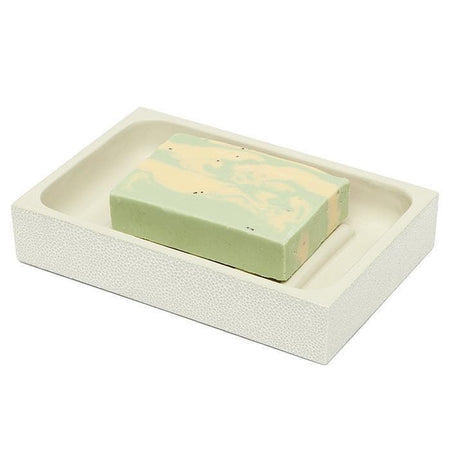Manchester Faux Shagreen Soap Dish (Snow)