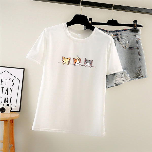 3 Cute Kitties T-shirt Print - Cute Wayz