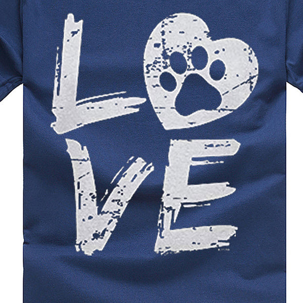 Love Paw T-shirt Print - Cute Wayz