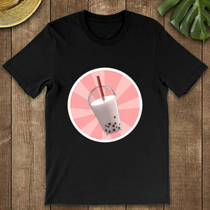 Cute Bubble Tea Cartoon T-shirt Print for Women - Cute Wayz