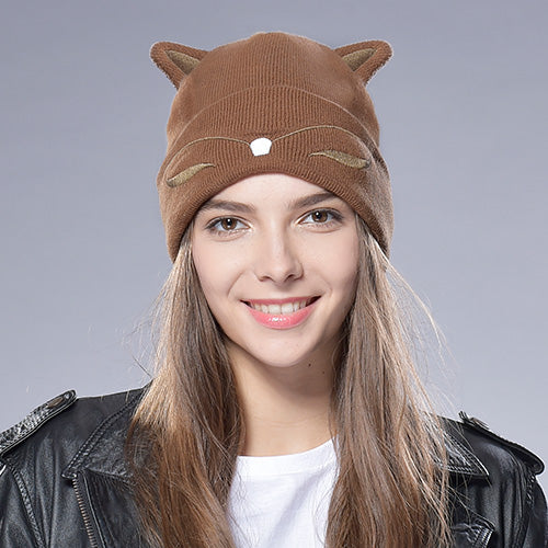Cute Fox Ears Beanie for Women and Kids - Cute Wayz
