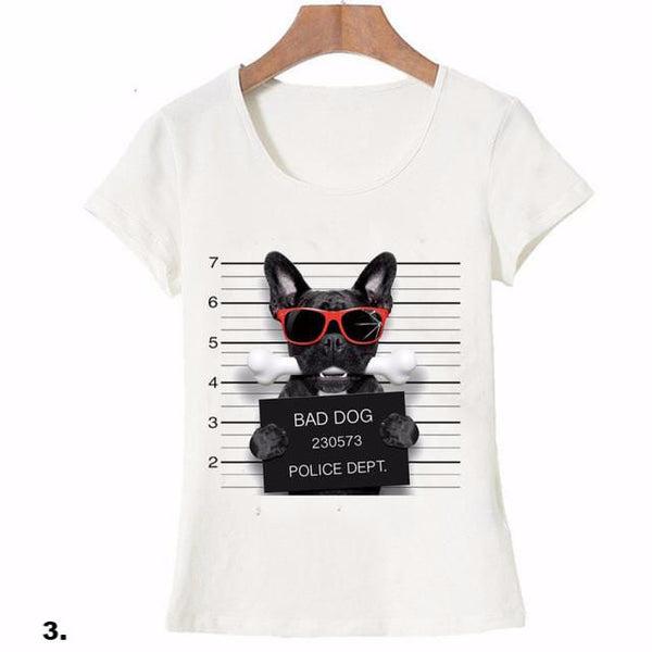 Cute Animal T-shirts Dogs & Cat Mugshots for Girls - Cute Wayz