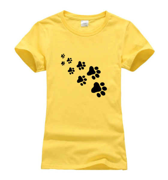 Cute Kawaii Cat Paws Print Design T-shirt for Women - Cute Wayz
