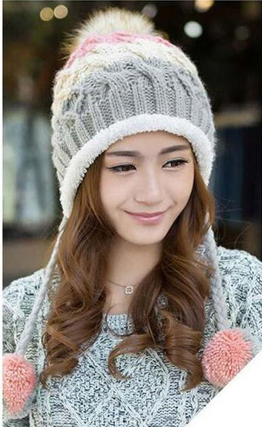 Adorable Knitted Beanie Hat with Pom Pom - Cute Wayz