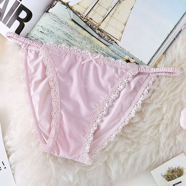 Cute Satin Lace Panties Underwear for Women - Cute Wayz