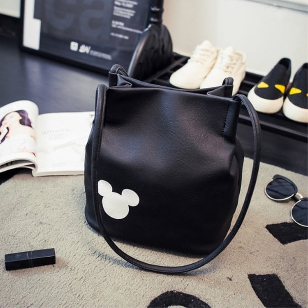 Mickey Mouse Inspired Handbag PU Leather Shoulder Bag - Cute Wayz