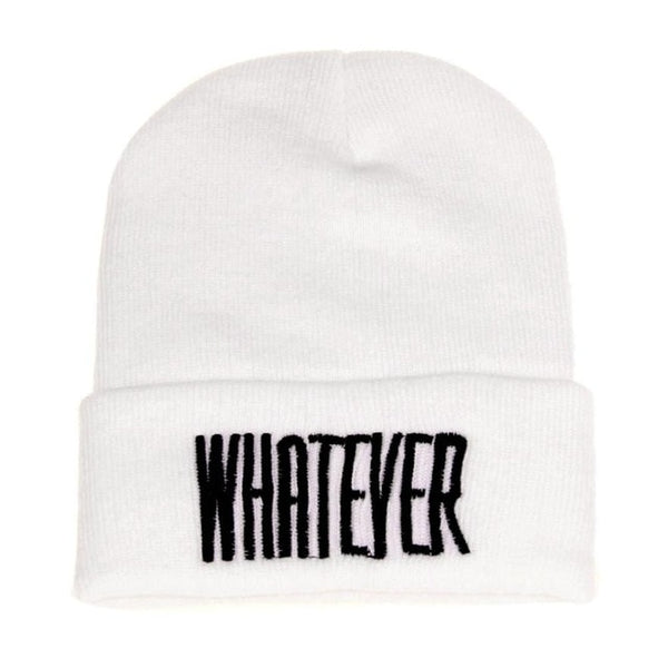 Whatever Embroidered Beanie Hat - Cute Wayz