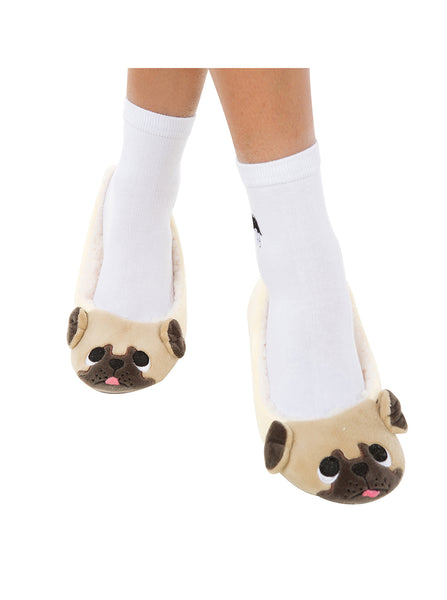 Cute Pug Dog Slippers for Women - Cute Wayz
