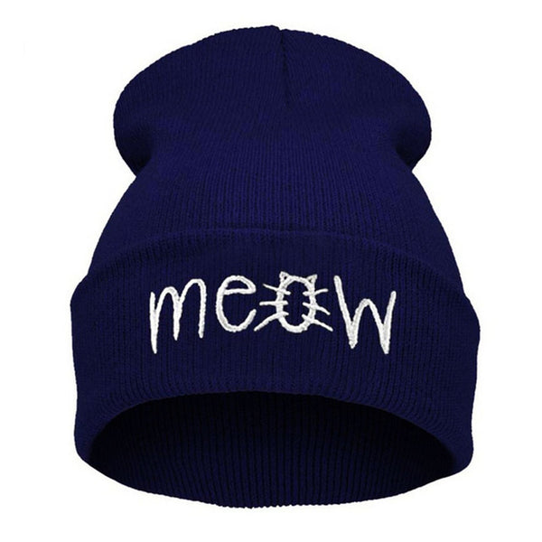 Meow Cat Beanie Hat - Cute Wayz