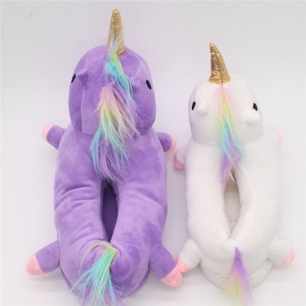 Adorable Unicorn Indoor Slippers for Women and Kids - Cute Wayz
