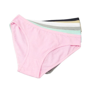 Cute Women's Underwear Solid Color Cotton Panties 6 Pieces - Cute Wayz