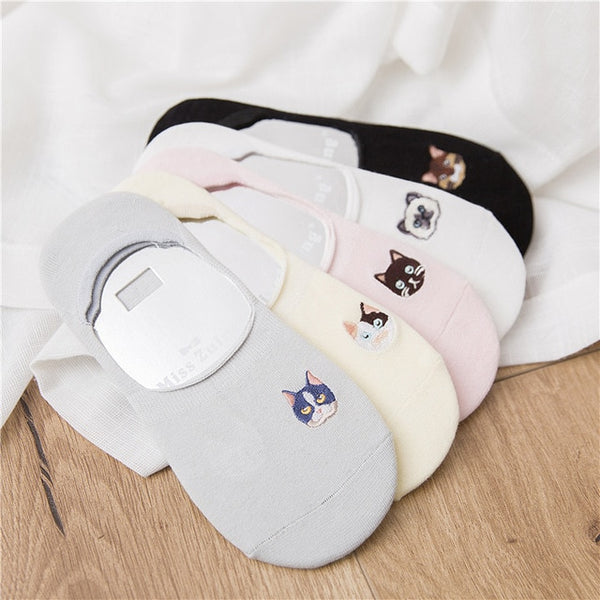 Cute Animals No Show Socks for Women 5 Pairs - Cute Wayz