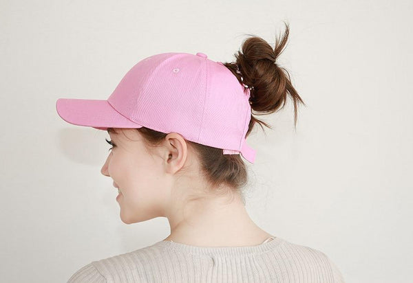 Baseball Cap with Ponytail Outlet - Cute Wayz