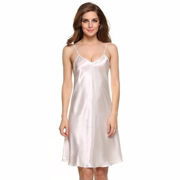 Satin Nightie Pajamas Sleepwear - Cute Wayz
