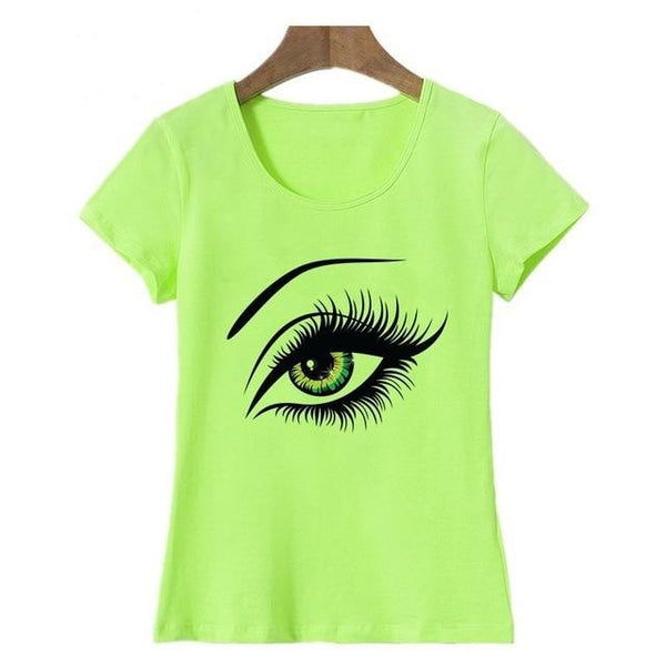 Beautiful Eye Print T-shirt - Cute Wayz