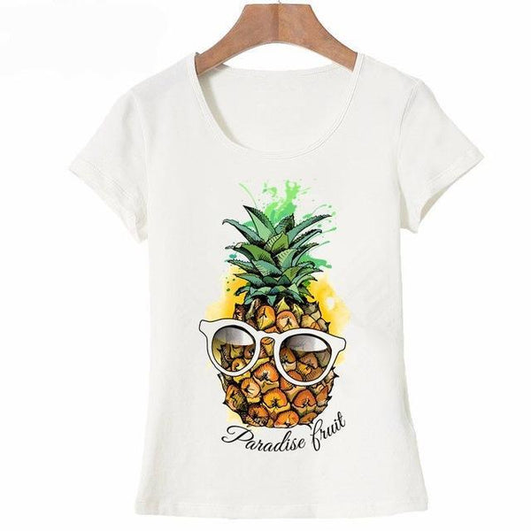Pineapple in Paradise T-shirt Print for Women - Cute Wayz