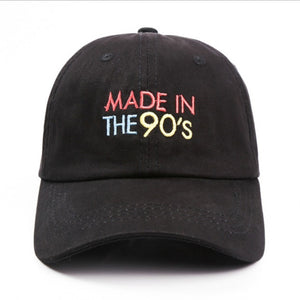 Made in the 90s Baseball Cap for Women and Men - Cute Wayz