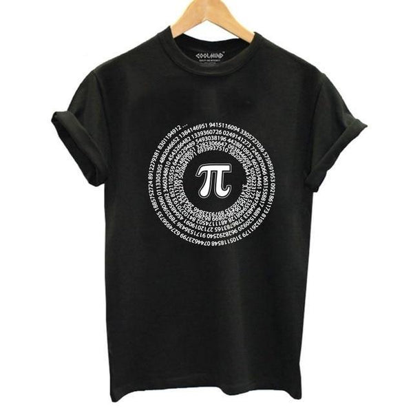Cool Math Pi T-shirt Print for Women - Cute Wayz