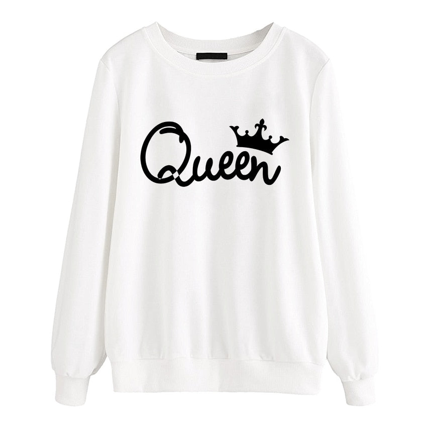 Queen Print Sweatshirt Pullover for Women - Cute Wayz