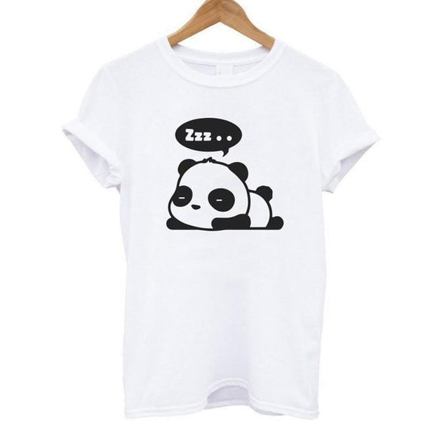 Cute Panda Sleeping T-shirt for Women - Cute Wayz