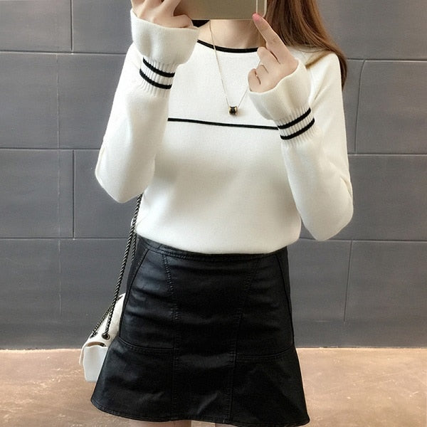 Adorable Pullover Sweater with Butterfly Sleeve End - Cute Wayz