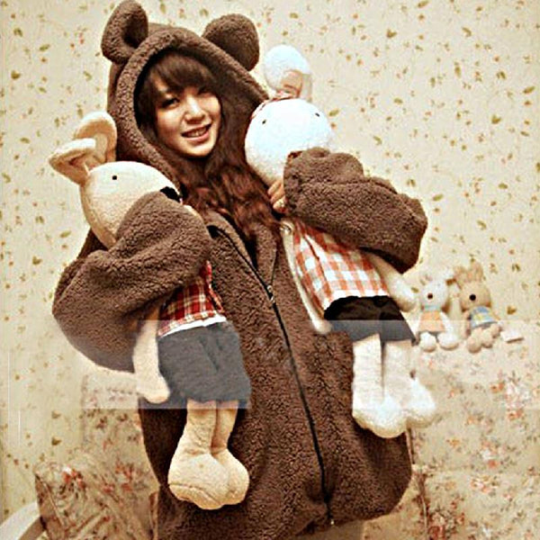 Cute Bear Hoodie Jacket - Cute Wayz