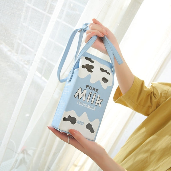 Milk and Juice Shoulder Sling Bags in PU Leather - Cute Wayz