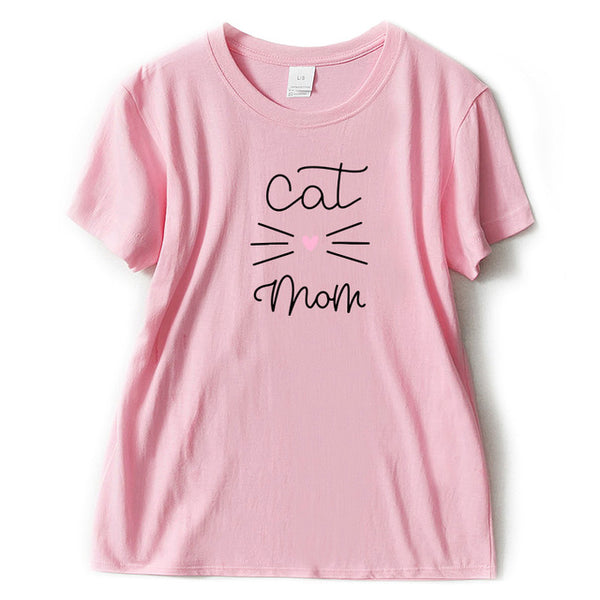 Cute Cat Mom T-shirt Print for Women - Cute Wayz