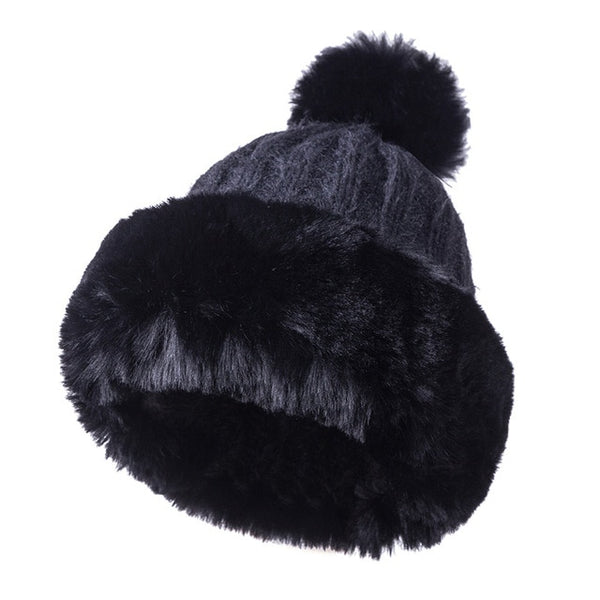 Faux Fur Beanie Hat for Women - Cute Wayz