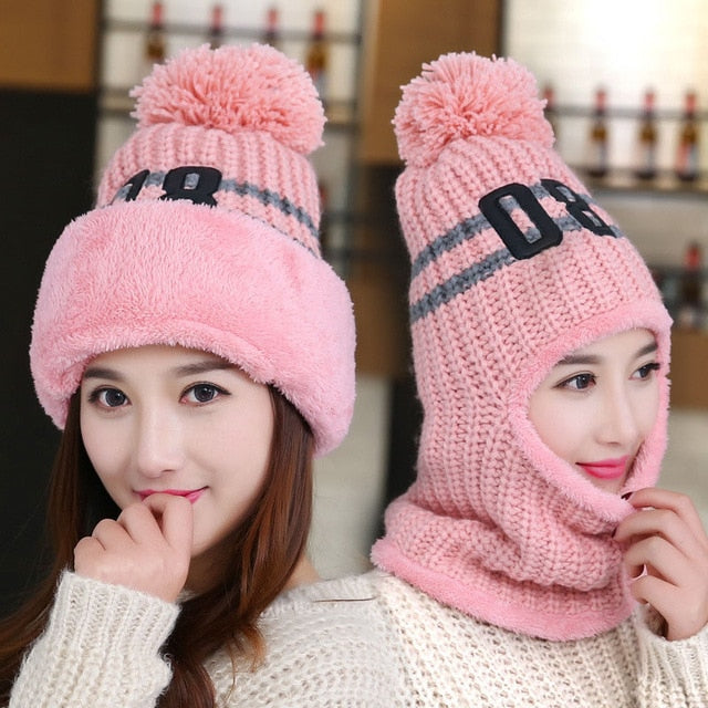 2 in 1 Beanie and Face Mask for Women - Cute Wayz