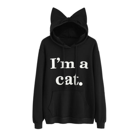 Cute Cat Ears Hoodie Pullover - Cute Wayz