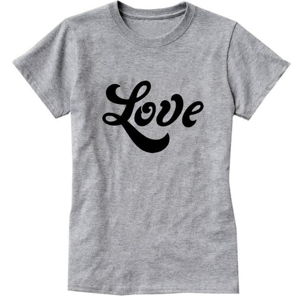 Love T-shirt Print for Women - Cute Wayz