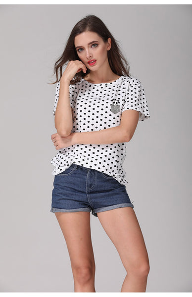 Panda Polka Dot T-shirt - Cute Wayz