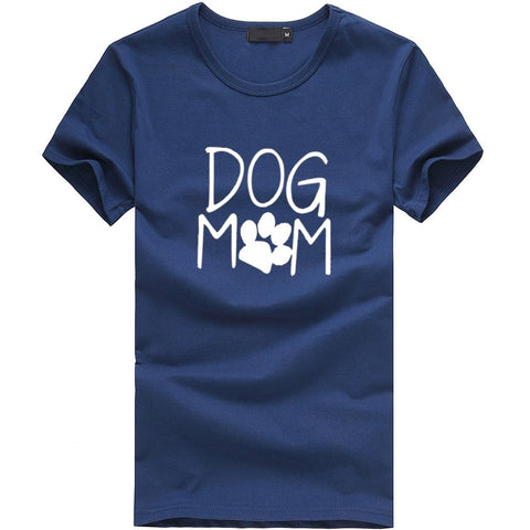 Dog Mom T-shirt Print with Paw