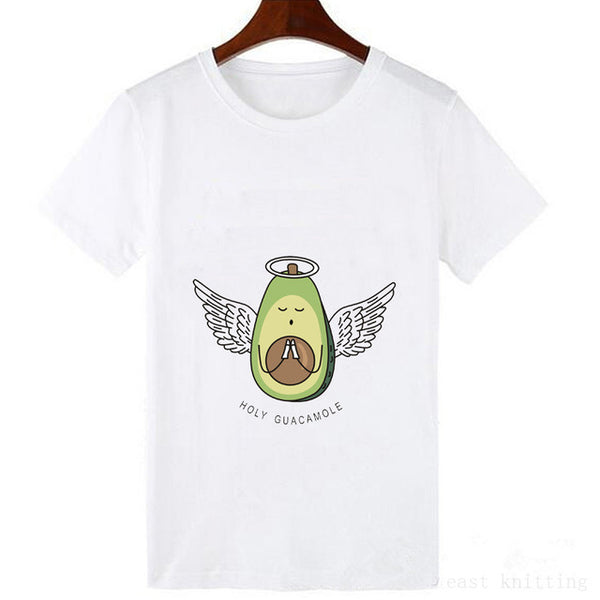 Funny Cute Avocado Cartoon T-shirt Print - Cute Wayz