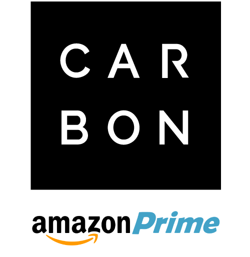 Carbon Beauty Logo with Amazon Prime Logo