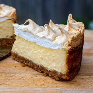 Lemon Meringue Smoked Cheesecake