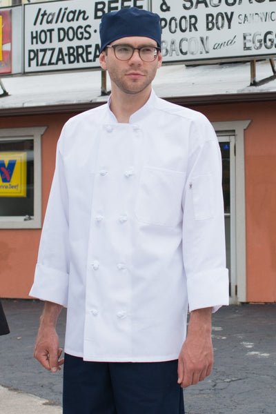 Uncommon Threads 0403 Classic Knot Chef Coat