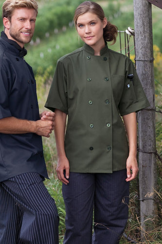 Uncommon Threads 0415 Short Sleeve Chef Coat