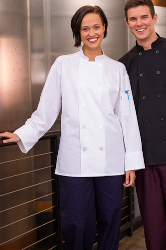Classic Poplin Chef Coat w/ Mesh - by Uncommon Threads