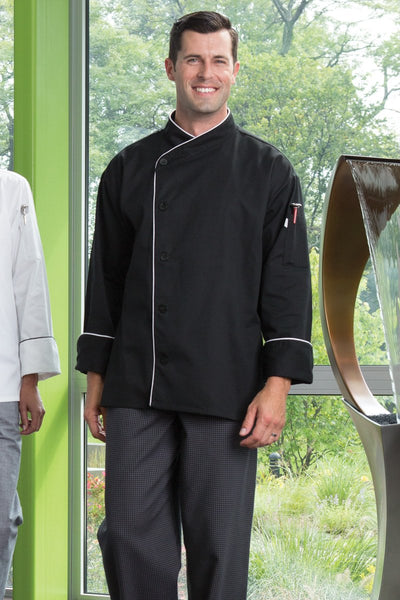 Panama Chef Coat w/ Contrast Piping - by Uncommon Threads