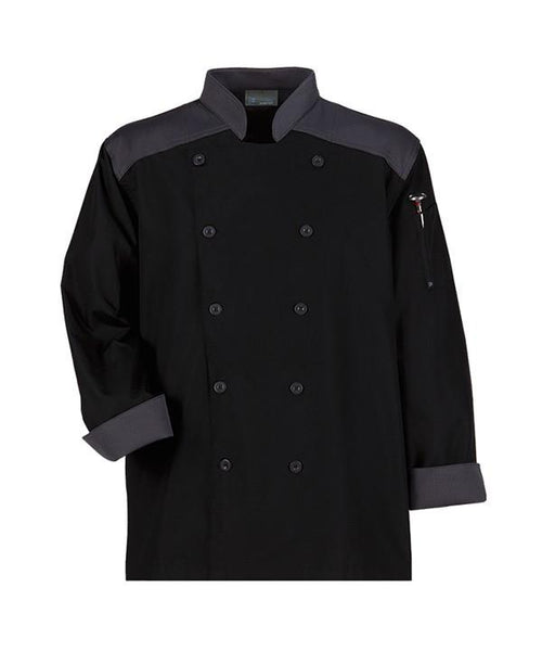 CookCool Top Trim Chef Coat - by Happy Chef