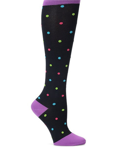 NurseMates Compression Socks - Bright Dot