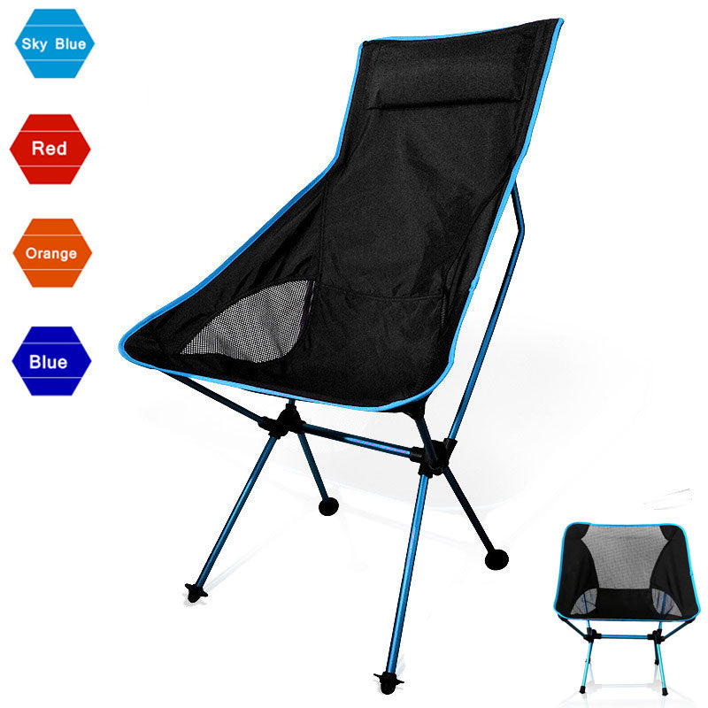 Beach Chair Fishing Grazing Camping Ultralight Folding Chair Outdoor Furniture 7075 Al Oxford Fabric Max 150kg Modern Moon Chair - Rebelimage RD Bracelets Watches Necklaces, charm Skull Crown King Queen engagement