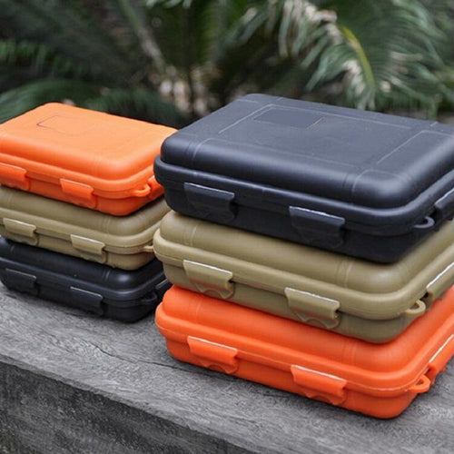 Waterproof Shockproof | Outdoor Survival Storage Case Box - Rebelimage RD Bracelets Watches Necklaces, charm Skull Crown King Queen engagement