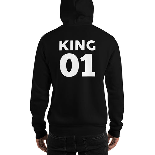 KING 01 Hooded Sweatshirt - Rebelimage RD Bracelets Watches Necklaces, charm Skull Crown King Queen engagement