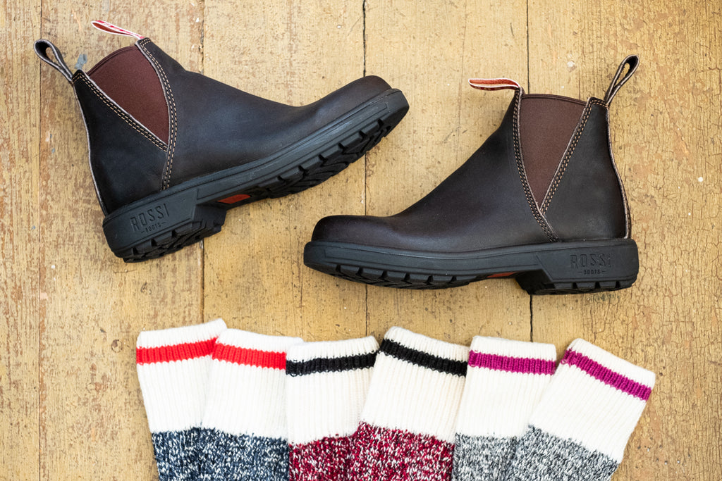 rossi boots with duray socks